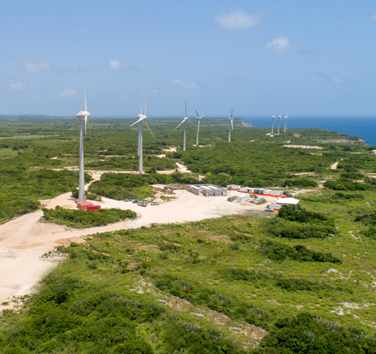 EDF Store & Forecast has optimized the wind power generation of Petit Canal, a windfarm with energy storage located in a cyclone-risk zone in Guadeloupe